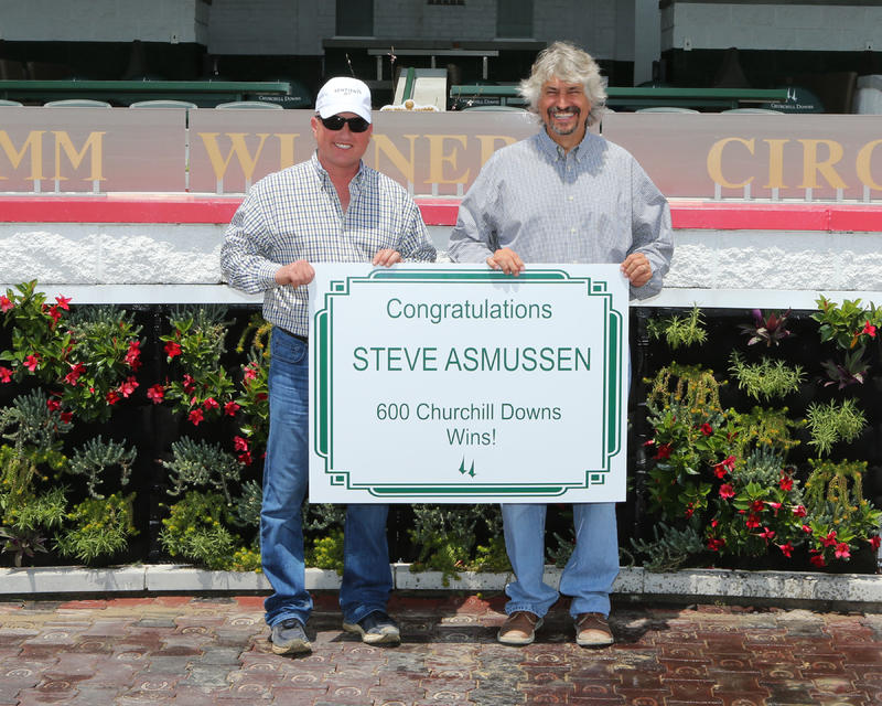 Asmussen, Steve - 600th Win At Churchill Downs 20170526 (Coady)