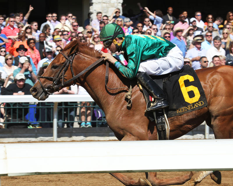 EAGLEThe Ben Ali Gr III - 86th RunningKeeneland Race Course     Lexington, KentuckyApril 16, 2016    Race #07Purse $200,0001-1/8 Miles  1:48.57W.S. Farish , OwnerNeil J. Howard, TrainerNoble Bird (2nd)Breaking Lucky (3rd)$6.00 $3.00 $2.40Order of Fin