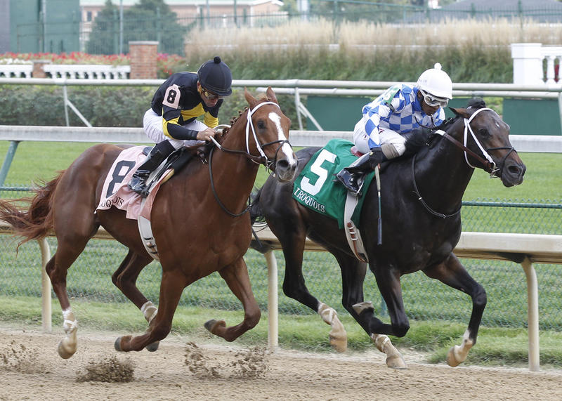 20140906 Iroquois Finish Lucky Play (inside) and Bold Conquest (outside)