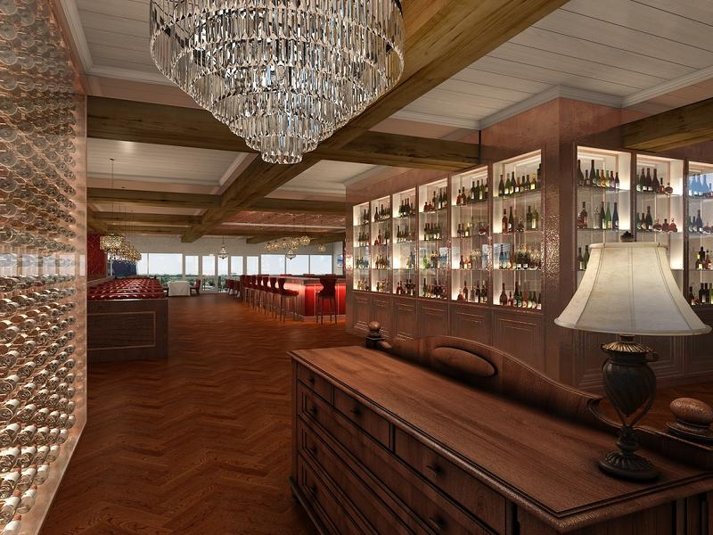 RENDERING Entry View to Bar and Track 6th Floor Renovation (Churchill Downs)_