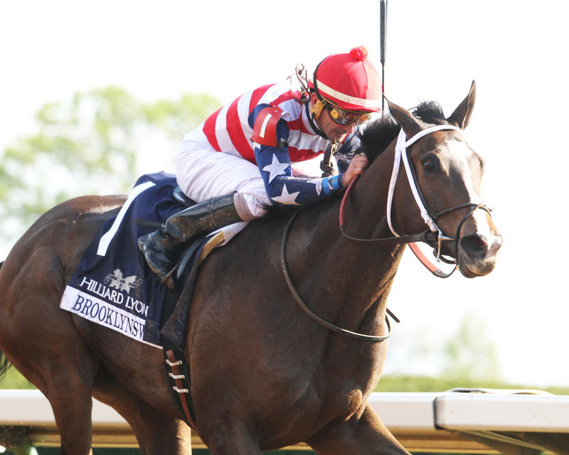 BROOKLYNSWAYThe Hilliard Lyons Doubledogdare Gr III, 22nd RunningKeeneland Race Course     Lexington, KentuckyApril 22, 2016    Race #09Purse $100,0001-1/16 Miles  1:42.86Naveed Chowhan, OwnerBernard S. Flint, TrainerRobby Albarado, JockeyI'm a Chatt
