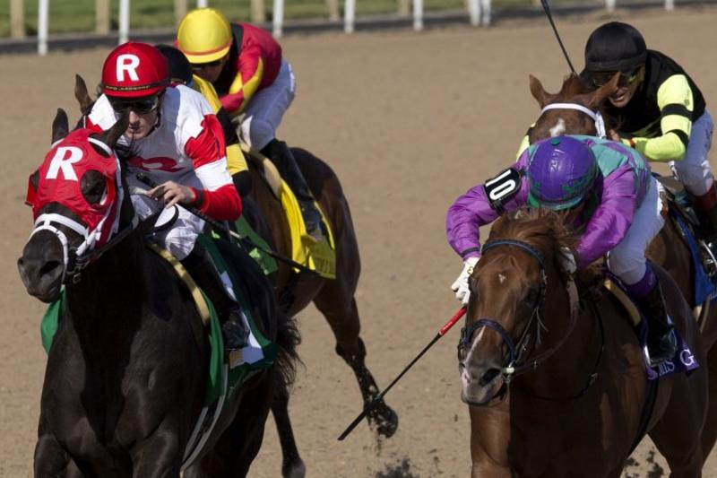 Toronto Ont.July3, 2016.Woodbine Racetrack.Queen's Plate Sir Dudley Digges. Jockey Julien Leparoux. WEG/michael burns photo